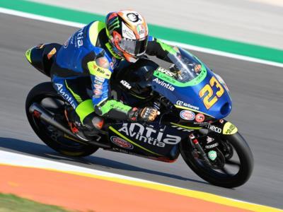 Moto3, Gabriel Rodrigo è il più rapido in FP2 del GP di Spagna davanti a Niccolò Antonelli e Romano Fenati