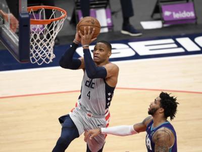 NBA 2021, i risultati della notte (17 maggio): le 30 squadre in campo insieme, Westbrook trascina i Wizards al play-in. Tutti i verdetti