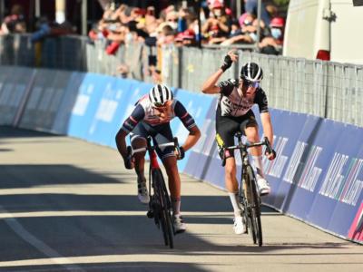 """Giro d'Italia, Gianluca Brambilla contro Bennett: """"A volte è meglio guardare un po' di gare in TV, così puoi imparare"""""""