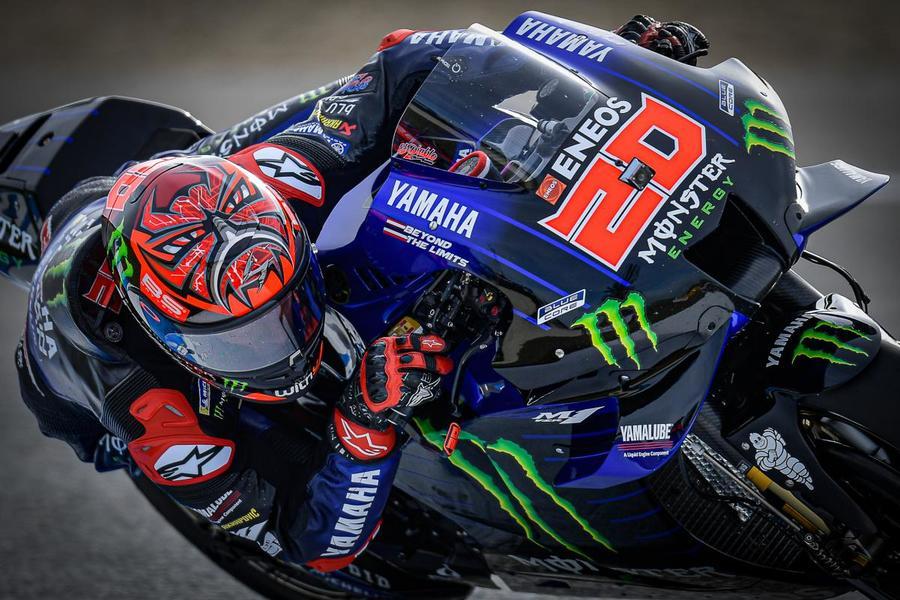 """MotoGP, Fabio Quartararo: """"Ero nervoso prima della qualifica, non mi sentivo bene col bagnato. Molto contento per la pole"""""""