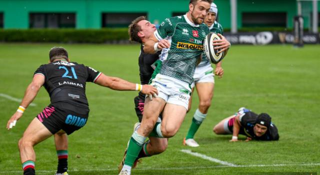 Rugby, PRO14 Rainbow Cup 2021: Benetton-Zebre 34-27. Primato in classifica per i trevigiani