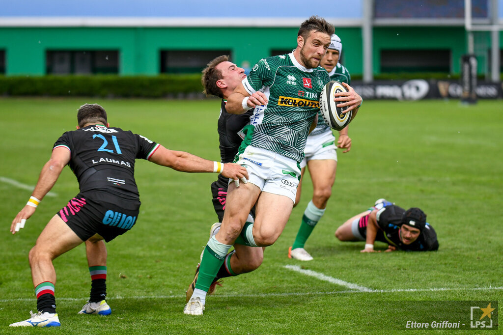 Rugby, PRO14 Rainbow Cup 2021: Benetton Zebre 34 27. Primato in classifica per i trevigiani