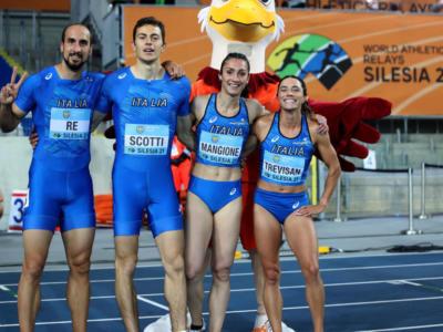 Atletica, Italia in trionfo alle World Relays! La 4×400 mista domina, Trevisan e Mangione super