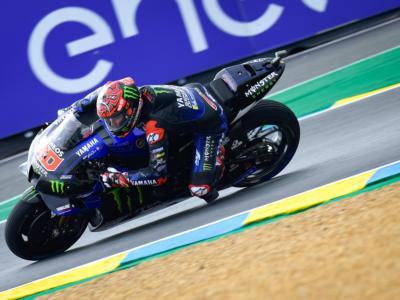 MotoGP, Fabio Quartararo beffa Rins in FP4 a Le Mans. Condizioni ibride, Ducati lontane