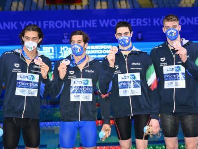 Nuoto, Italia di bronzo agli Europei con la 4×100. Ma per il podio olimpico serve ben altro