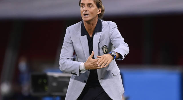 """Europei 2021, Roberto Mancini: """"Turnover con la Svizzera? Strada lunga. Partita dura. Verratti sta bene"""""""