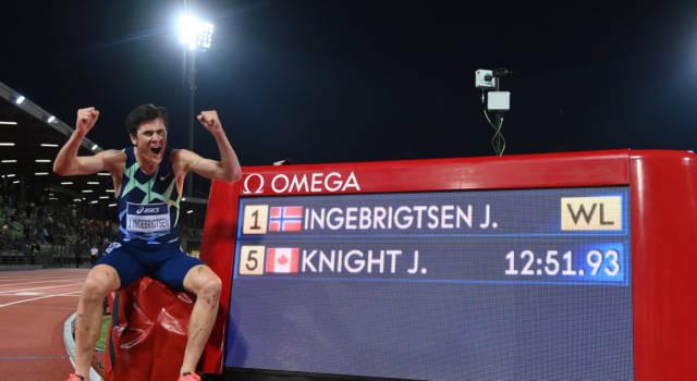 Golden Gala 2021, Ingebrigtsen record europeo. Cadono mondiali stagionali e primati, l'Italia ruggisce con Tamberi