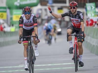 Giro di Svizzera 2021, Kron vince in salita. Rui Costa penalizzato. Alaphilippe e Antonio Nibali in fuga, Carapaz resta leader