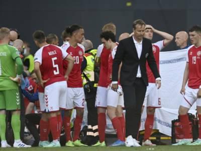 Euro 2021, Danimarca-Finlandia si concluderà stasera! Si riparte alle 20.30