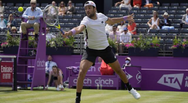 ATP Queen's 2021: Berrettini ai quarti, c'è Evans per lui. Senza problemi Shapovalov e Tiafoe