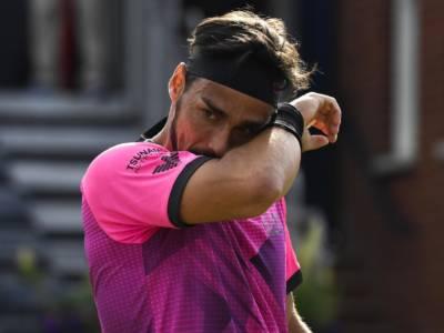 Wimbledon 2021, Fabio Fognini fermato dal buio: avanti due set su Ramos-Vinolas, si prosegue domani