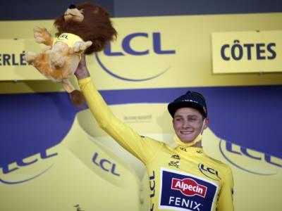 Classifica Tour de France 2021, seconda tappa: Mathieu Van Der Poel indossa il simbolo del primato. Vincenzo Nibali è 21° a 41″