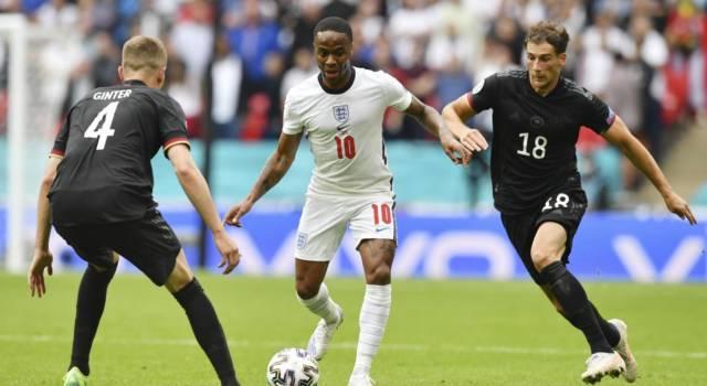 VIDEO Inghilterra-Germania 2-0, highlights, gol e sintesi Europei: Kane e Sterling spediscono i Tre Leoni ai quarti