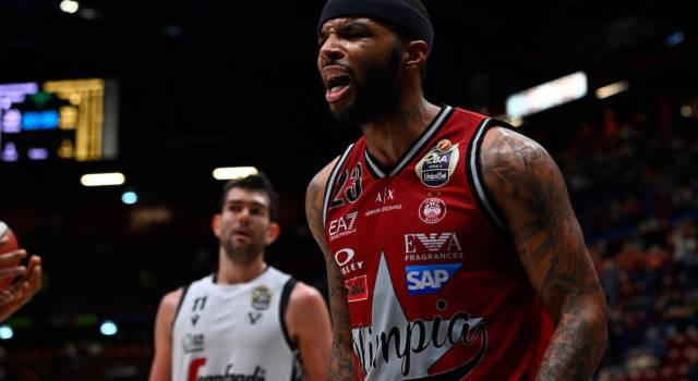 Basket: Olimpia Milano, pesante infortunio per Malcolm Delaney prima di gara-3 della finale scudetto