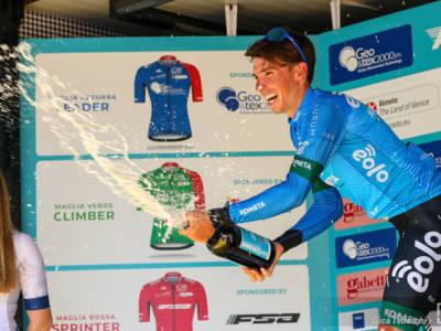 """Lorenzo Fortunato vince a Cima Grappa: """"Sono forte sulle salite lunghe, questa è la quarta settimana del Giro d'Italia"""""""
