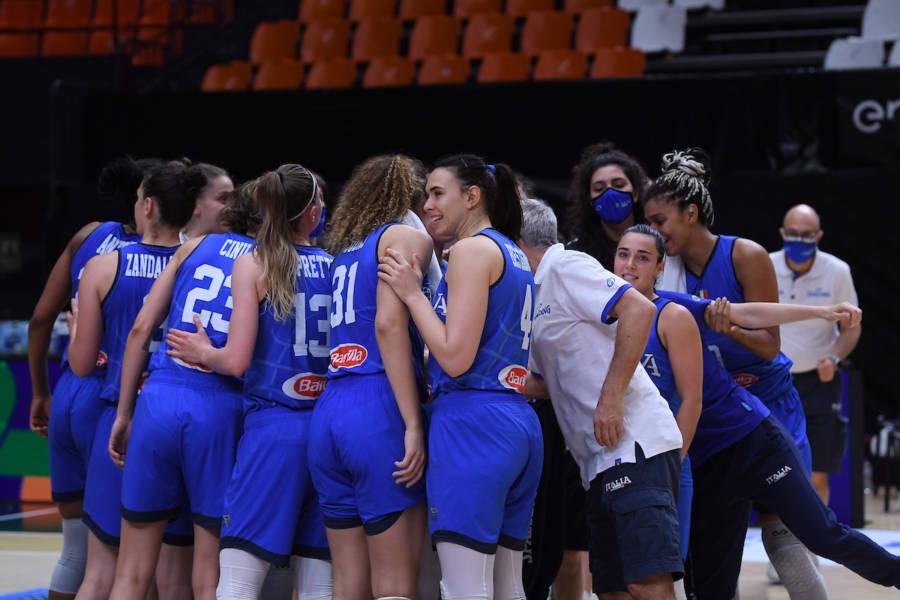 Basket femminile: Italia Spagna non si gioca, due positive al Covid tra le iberiche. Le azzurre di nuovo in campo agli Europei