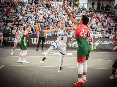 """Basket 3×3 femminile, Rae Lin D'Alie: """"Italia, questo è per te. Viviamo un sogno"""""""