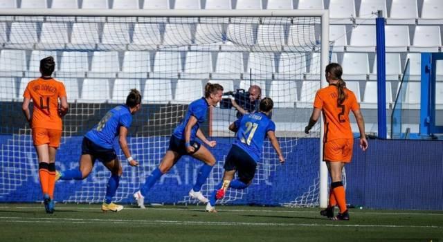 Calcio femminile, l'Italia batte l'Olanda in amichevole a Ferrara: decide Cristiana Girelli su rigore
