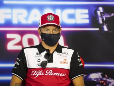 """F1, Kimi Raikkonen: """"Fino al contatto con Perez la gara non era da buttare, poi non più avuto spazio…"""""""