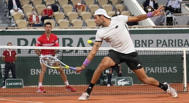 Roland Garros 2021, record di ascolti su Eurosport per la sfida tra Matteo Berrettini e Novak Djokovic