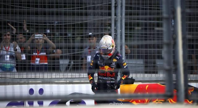 F1, danni limitati per la Red Bull di Verstappen. Nessun problema al telaio, trasmissione da verificare