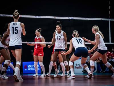 Volley, Nations League femminile semifinali. Battute Turchia e Giappone: la finale sarà Usa-Brasile