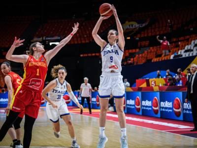 Basket femminile, Italia-Montenegro 77-61. Reazione di rabbia delle azzurre e seconda fase ipotecata