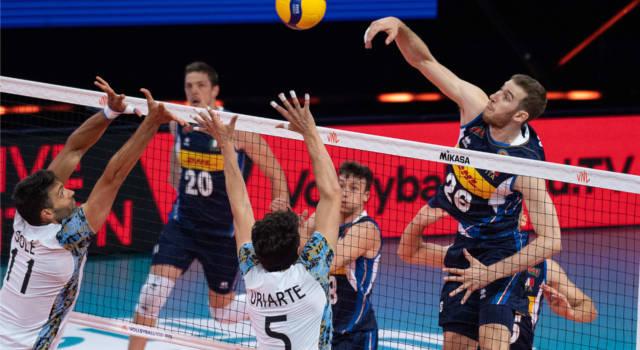 Volley, Nations League: Italia-Argentina 3-0, terza vittoria degli azzurri. Michieletto e Recine in luce