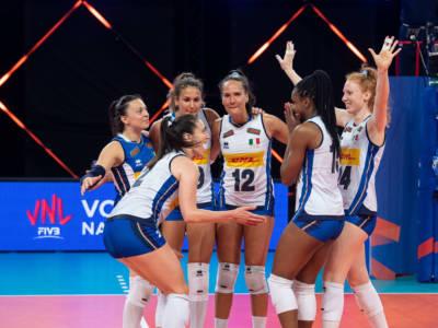 LIVE Italia-Thailandia 3-1, Nations League volley femminile in DIRETTA: le azzurre concludono con una vittoria!
