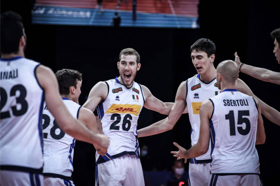 Volley, Nations League: Italia Olanda 3 1, Michieletto e Pinali vincono la sfida con Abdel Aziz