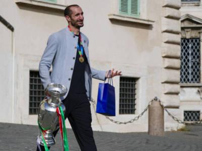 """Europei di Calcio 2021, Giorgio Chiellini: """"Un successo di gruppo, vinto perché abbiamo creduto nell'amicizia. Una dedica ad Astori"""""""