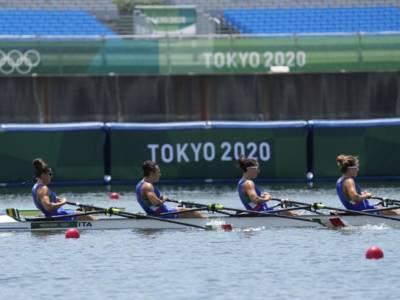 Canottaggio, Olimpiadi Tokyo: quarto posto per il quattro di coppia senior femminile. Crono irreale della Cina