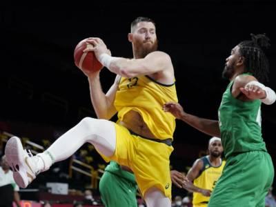 Basket, Olimpiadi Tokyo: Australia senza Aron Baynes per il resto del torneo a causa di un infortunio al collo