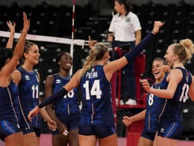 Italia-Cina volley femminile Olimpiadi: orario, tv, programma, streaming 31 luglio
