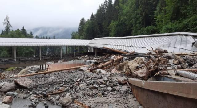 Sport da budello, le inondazioni di questi giorni hanno danneggiato pesantemente la pista di Königssee