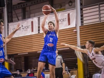 Basket: Italia, European Challengers Under 20 2021 chiusi con una vittoria sulla modesta Albania. Il gironcino lo vince la Repubblica Ceca