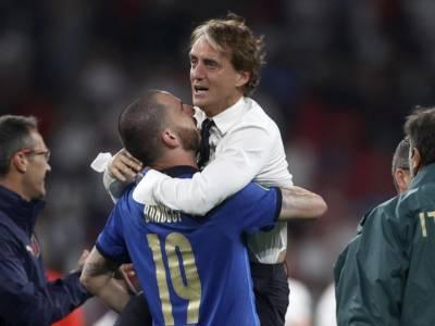 """Calcio, Leonardo Bonucci loda Mancini: """"La vera vittoria è aver messo d'accordo 60 milioni di CT"""""""