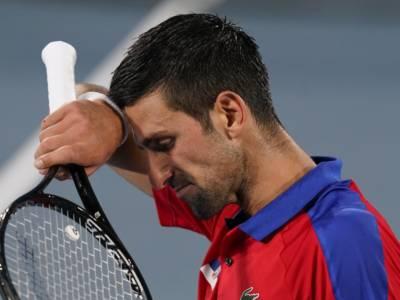 """Tennis, Olimpiadi Tokyo, Novak Djokovic: """"Mi sento malissimo, una sconfitta davvero terribile"""""""
