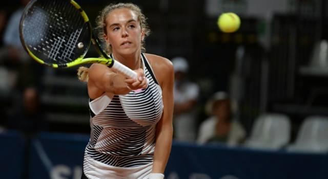 Tennis, WTA Portorose 2021: ottimo esordio di Lucia Bronzetti. Vittoria in due set sulla svedese Peterson