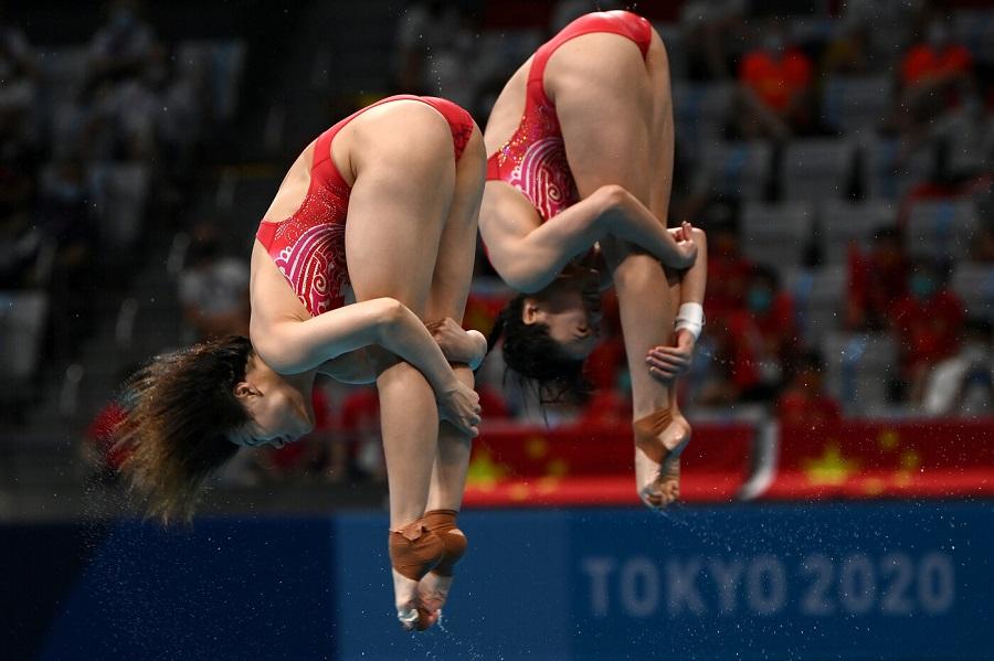 Tuffi, Olimpiadi Tokyo: dominio cinese nel sincro femminile dalla piattaforma