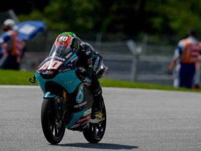 Moto3, risultati FP1 GP Austria 2021: Darryn Binder precede Fenati ed Acosta. 6° Nepa, 7° Foggia