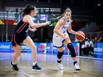 Basket femminile, Mondiali Under 19 2021: Italia travolta dagli Stati Uniti al debutto