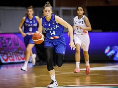 Basket femminile, Mondiali Under 19 2021: Panzera e Spinelli salvano l'Italia, vittoria fin troppo sofferta al supplementare sull'Egitto