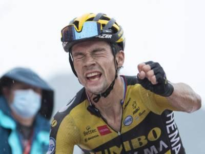Giro dell'Emilia 2021: classifica e ordine d'arrivo. Roglic vince sul San Luca. Battuto Almeida, Evenepoel 5°