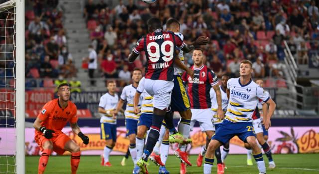 Calcio, Serie A 2021-2022: il Bologna piega l'Hellas Verona per 1-0, decide la rete di Svanberg