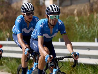Giro di Sicilia 2021: Alejandro Valverde spettacolare a Caronia, tappa e maglia. Battuto Covi, undicesimo Nibali