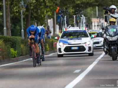 """Ciclismo, Filippo Ganna: """"Sensazioni buone, spero di raccogliere tutto il possibile"""". Oro nel Team Relay"""