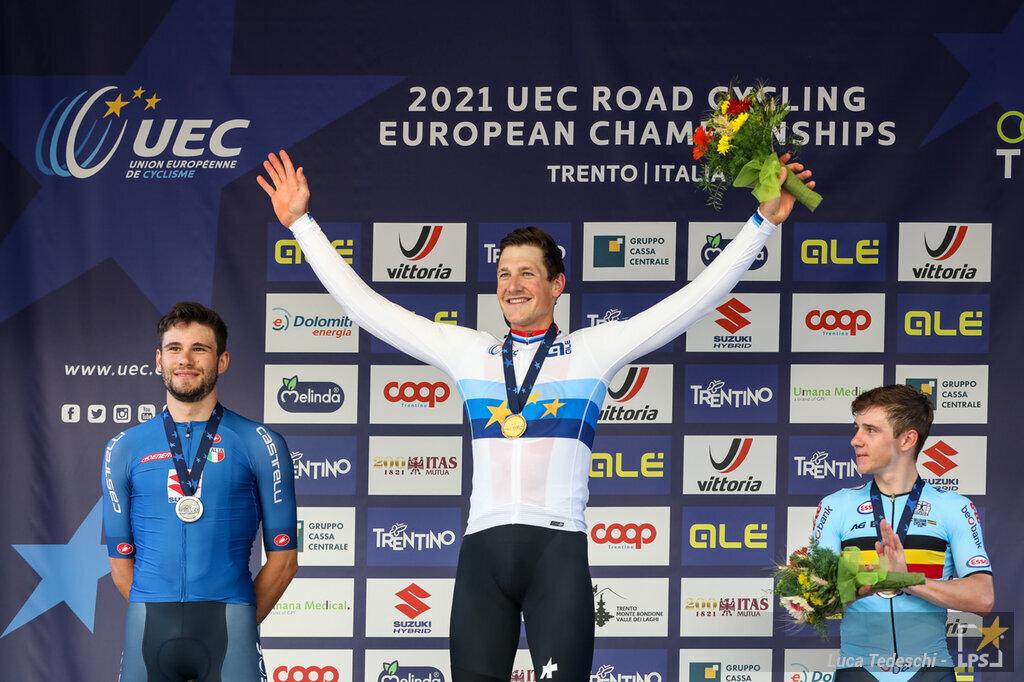 Cronometro delle Nazioni 2021, Stefan Kueng domina in Francia. Alessandro De Marchi sul podio, Evenepoel 5°