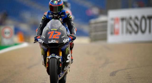 Moto2, risultato FP2 GP San Marino: Bezzecchi al comando sotto la pioggia