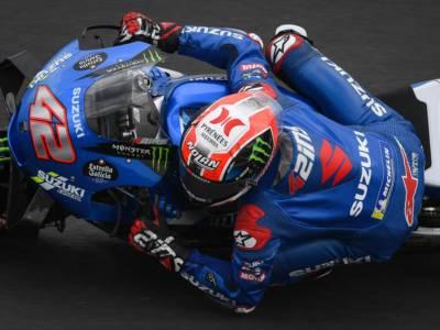 MotoGP, Alex Rins e Suzuki sugli scudi nel warm-up del GP di San Marino, ma Quartararo e le Ducati sono in scia, 19° Valentino Rossi